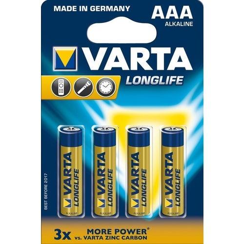 Bateria Varta Longlife LR03 (AAA) 1,5V 4szt