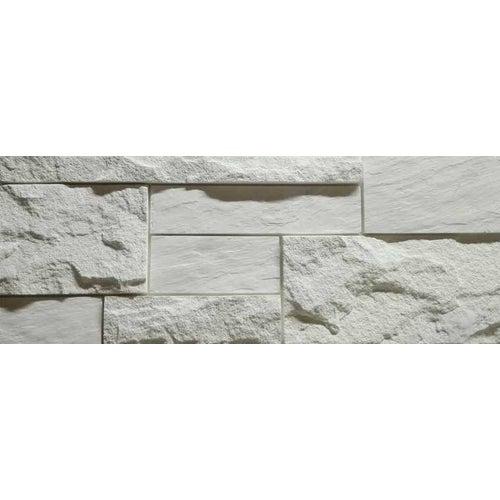 Kamień dekoracyjny Birma, biały, 18x48x2.2 cm, opak. 0.52m2, gips