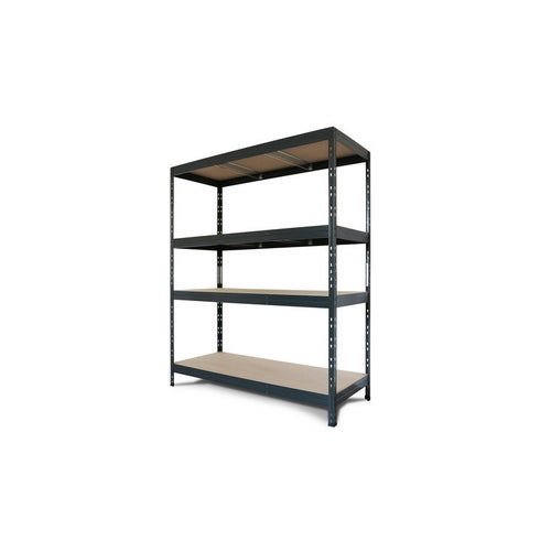 Regał magazynowy Rivet wym. 180x150x60 cm, 4 półki, 200 kg