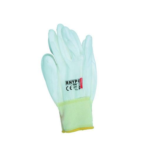 Rękawice z poliestru powlekane poliuretanem RNYPO, rozm. 10 (XL)
