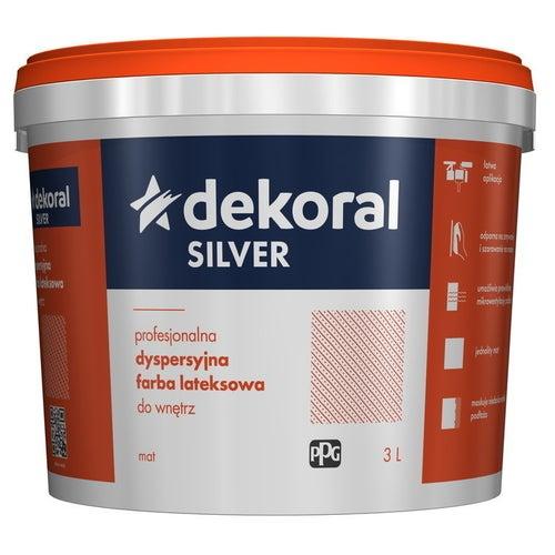 Farba dyspersyjna Dekoral Silver baza B 2,8 l