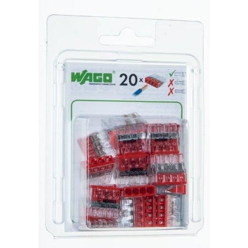 Szybkozłączka mini Wago 4x0,5-2,5mm2 20szt