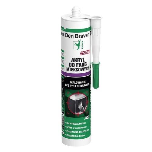 Akryl do farb lateksowych Den Braven biały 280ml