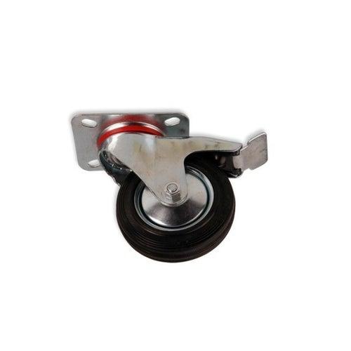 Zestaw jezdny skrętny 125 mm/100 kg z hamulcem
