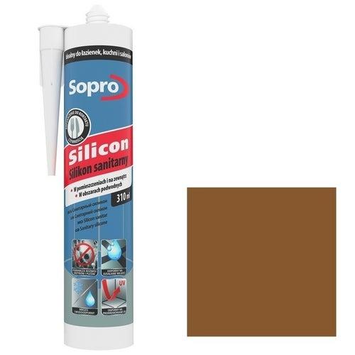 Silikon sanitarny Sopro 58 beż umbra 310 ml