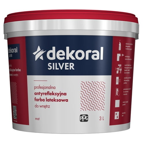 Farba antyrefleksyjna Dekoral Silver  baza B 2,8 l