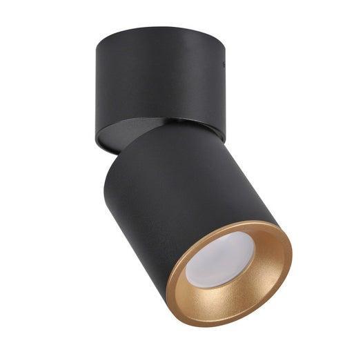 Polux oczko przegubowe natynkowe NIXA GU10 czarno-złote