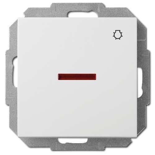 Elektroplast Senta biały przycisk światła podświetlany