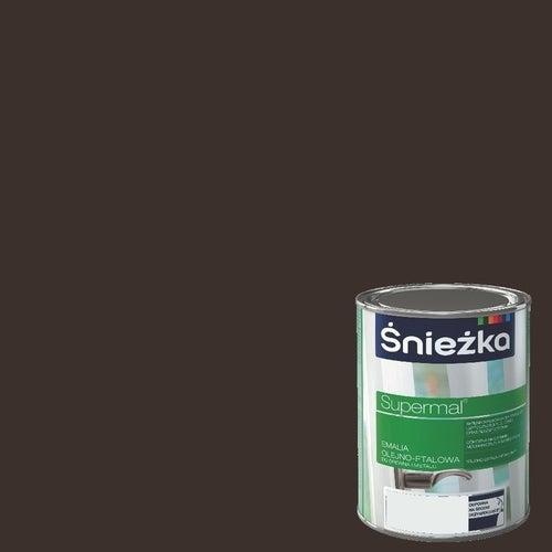 Emalia olejno-ftalowa Śnieżka Supermal brąz czekoladowy 0,8l