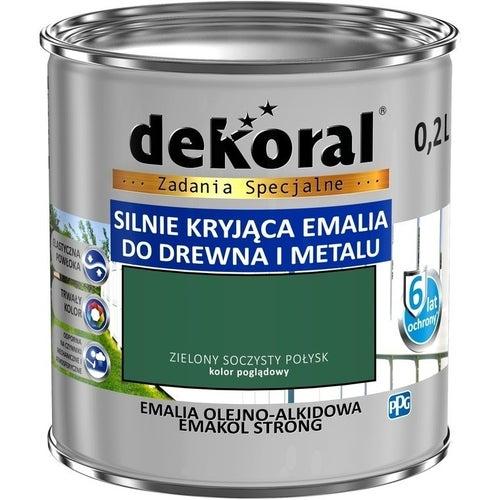 Emalia olejno-alkidowa Dekoral Emakol Strong zielony soczysty 0,2l