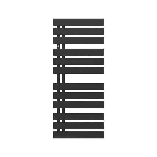 Grzejnik łazienkowy Nameless 120x50 cm, czarny matowy