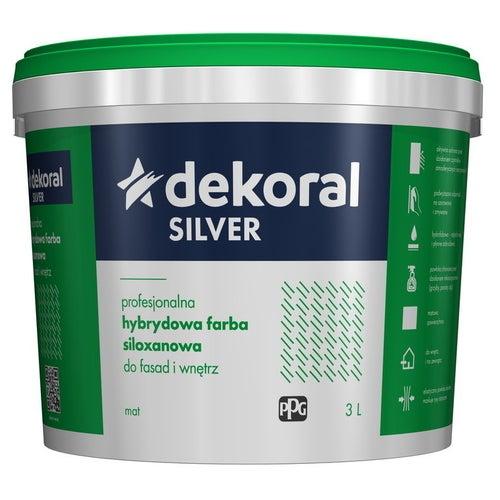 Farba hybrydowo-siloxanowa Dekoral Silver baza B 2,8 l