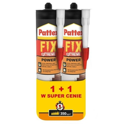 Klej montażowy Pattex Fix Extreme Power 2 sztuki x 385 ml
