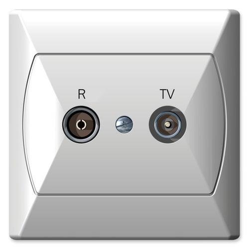 Ospel Akcent biały gniazdo antenowe RTV końcowe