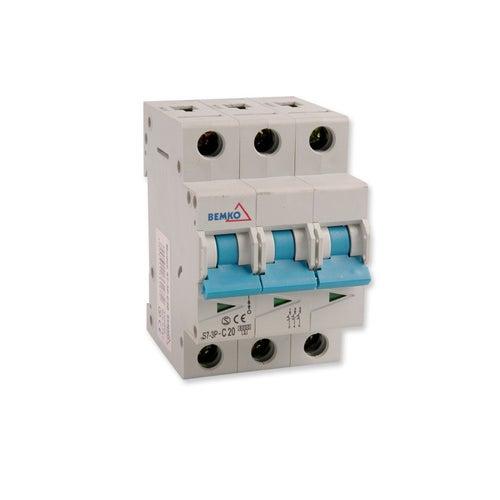 Wyłącznik nadprądowy 3P C 20A A00-S7-3P-C20 Bemko