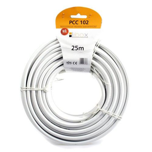 Przewód koncentryczny PCC102 75Ω 1,02/4,7 biały, 25m