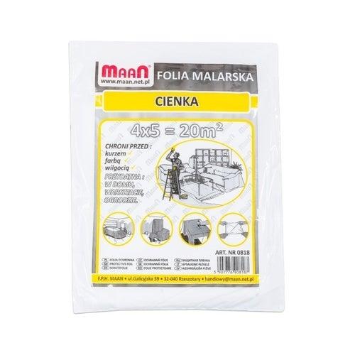 Folia malarska cienka 4x5m