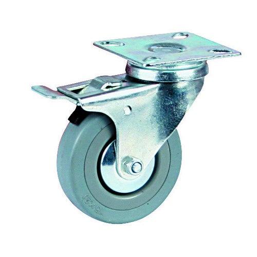 Zestaw jezdny skrętny 75 mm/60 kg z hamulcem