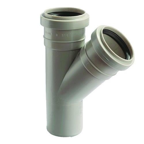 Trójnik kanalizacyjny 45° 50 mm