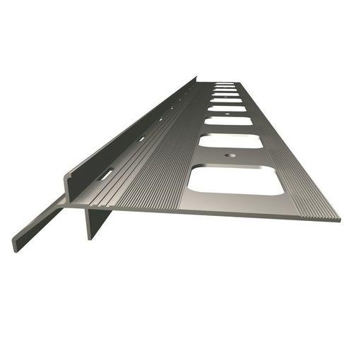 Okapnik balkonowo-tarasowy szary 200 cm + elementy montażowe