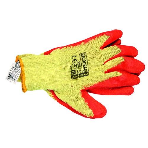 Rękawice z dzianiny i gumy RECODRAG PXL, rozm. 10 (XL)