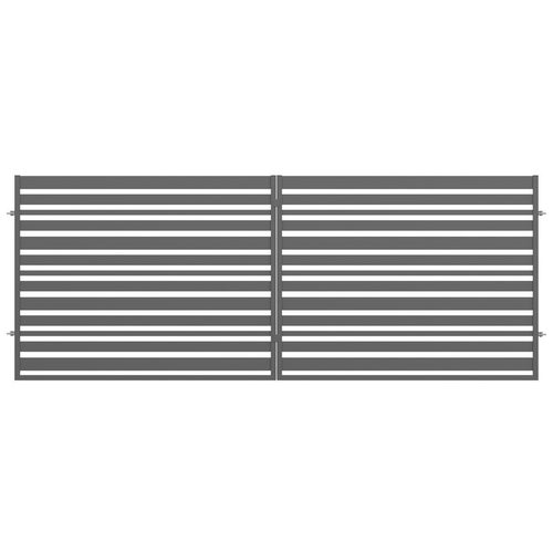 Brama ogrodzeniowa dwuskrzydłowa Ksenia antracyt, 150x400 cm