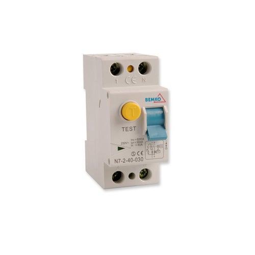 Wyłącznik różnicowoprądowy 2P 40A 30mA AC A05-N7-2-40-0 Bemko
