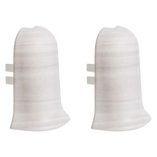 Narożnik zewnętrzny do listew przypodłogowych 402 39x56x23mm Dąb Biały op. 2szt