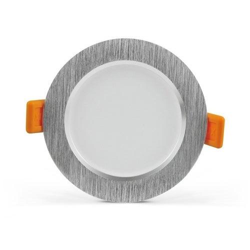 Oczko sufitowe VENUS LED 7W, 470LM, 3000K, IP20 srebrne szczotkowane