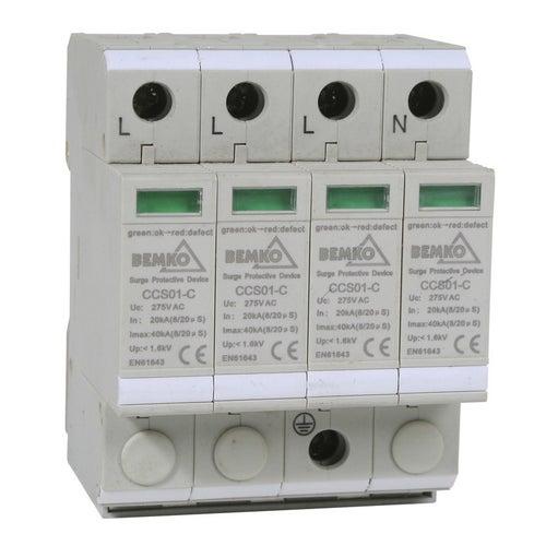 Ogranicznik przepięć 4P typ T2 (klasa C) A50-CCS01-4P Bemko