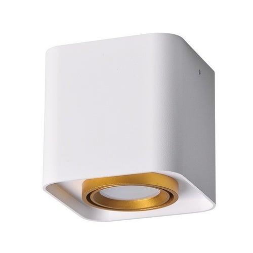 Oprawa sufitowa punktowa EGER kwadrat 10W GU10 IP20 biało-złota
