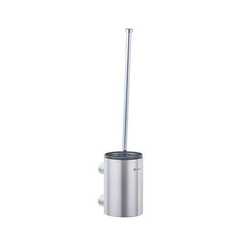 Szczotka do WC z uchwytem mocowanym do ściany, tuba krótka, stal polerowana SZ16C