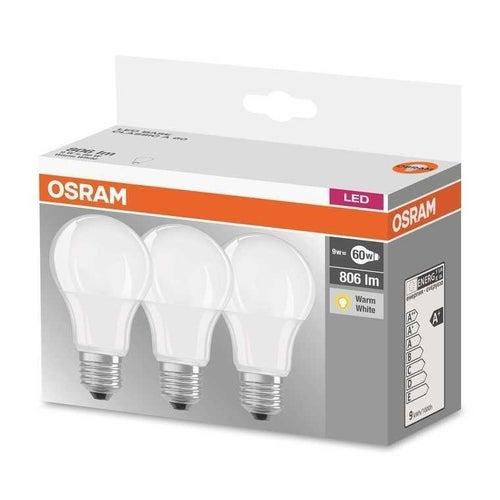 3x żarówka LED 8,5W E27 806lm ciepło biała