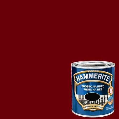 Farba antykorozyja Hammerite wiśniowy połysk 0,7l