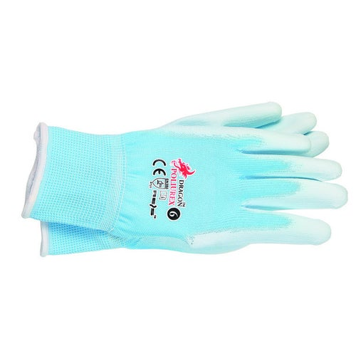 Rękawice z nylonu POLIUREX JNW, rozm. 6 (XS)