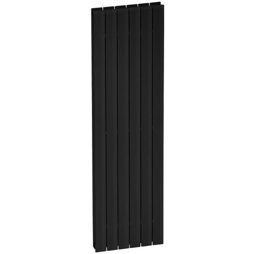 Grzejnik dekoracyjny Vertirad 170x46 cm, czarny matowy