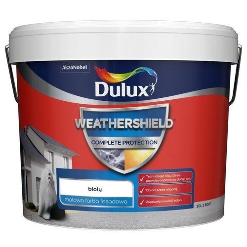 Farba fasadowa Dulux Weathershield Complete biały 10l