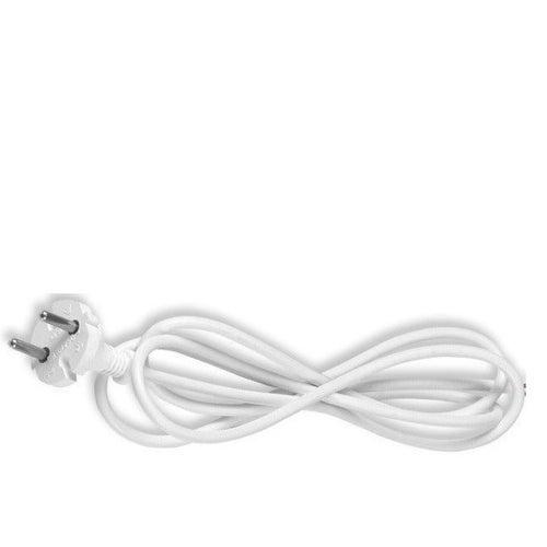 Przyłączacz z wtyczką płaską 1,6m 2x0,75 biały