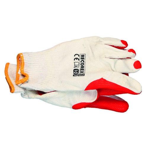 Rękawice brukarskie z dzianiny i gumy RECOREX, rozm. 10 (XL)
