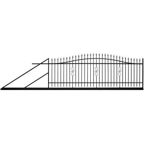 Brama przesuwna Volta czarna, 130-150x400 cm, lewa