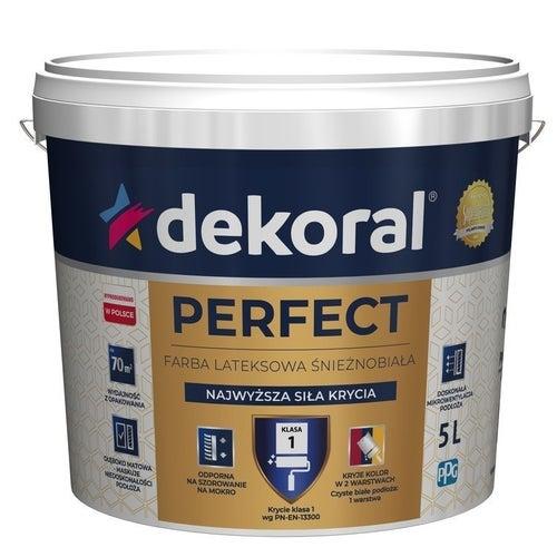 Farba Dekoral Perfect biała 5l