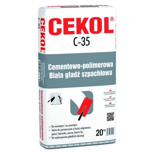 Tynk elewacyjny Cekol C-35 20 kg, gładki