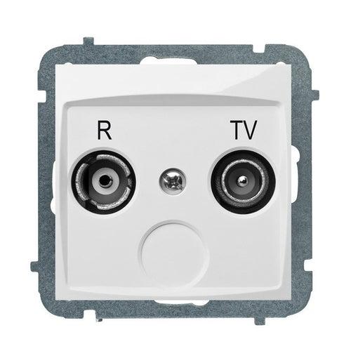 Elektroplast Carla biała gniazdo antenowe R-TV końcowe