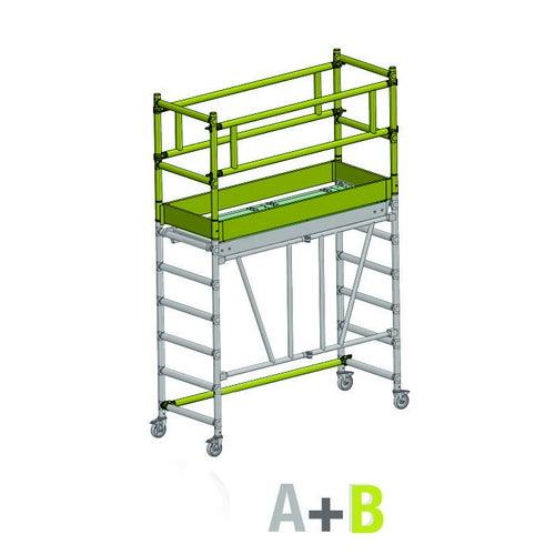 Rusztowanie Faraone Compact XS Pakiet B, 160x75 cm, 1,7 m, aluminium