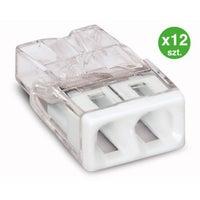 Szybkozłączka mini Wago 2x0,5-2,5mm2 12szt