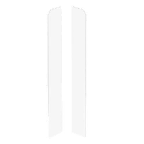 Zaślpeka do listew przypodłogowych Evera 401 65x16mm Biała