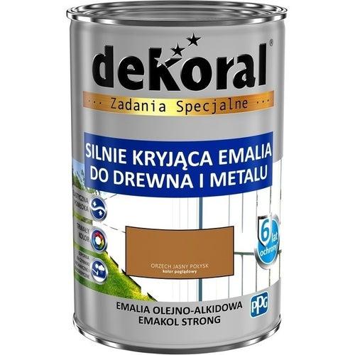 Emalia olejno-alkidowa Dekoral Emakol Strong orzech jasny 0,9l