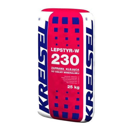 Zaprawa klejowa do wełny mineralnej Kreisel Lepstyr-W 230 25 kg
