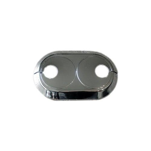 Rozeta maskująca podwójna do rur PEX 16 mm, chrom