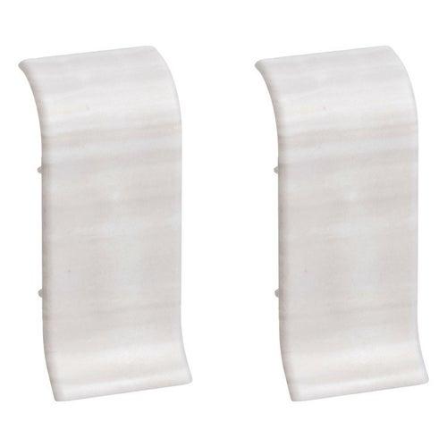 Łącznik do listew przypodłogowych 402 32x56x25mm Dąb Biały op. 2szt